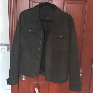 Suede trucker jacket bands Republic